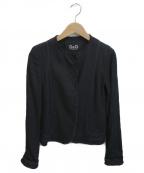 D&G(ドルチェ&ガッバーナ)の古着「ノーカラージャケット」|ブラック