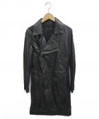 GIORGIO BRATO(ジョルジオ ブラッド)の古着「レザーコート」 ブラック