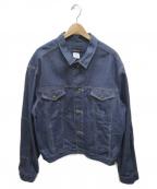 Calvin Klein(カルバンクライン)の古着「[古着]ビッグシルエットデニムジャケット」|インディゴ