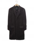 BURBERRY PRORSUM(バーバリープローサム)の古着「アルパカ混チェスターコート」|パープル