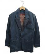 LEVIS RED(リーバイスレッド)の古着「レザー切替デニムテーラードジャケット」 インディゴ