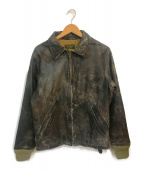 ()の古着「アンティーク加工レザージャケット」 ブラウン