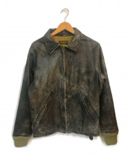 REPLAY (リプレイ) アンティーク加工レザージャケット ブラウン サイズ:S