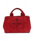 PRADA(プラダ)の古着「ハンドバッグ」|レッド