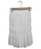 FOXEY BOUTIQUE(フォクシー ブティック)の古着「プリーツニットスカート」|アイボリー