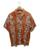 pataloha(パタロハ)の古着「90sアロハシャツ」|オレンジ