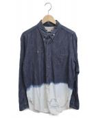 ()の古着「DENIM TIP BLEACHED LONG BD SHI」|ブルー