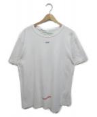 ()の古着「バックプリントアシンメトリークルーネックTシャツ」|ホワイト