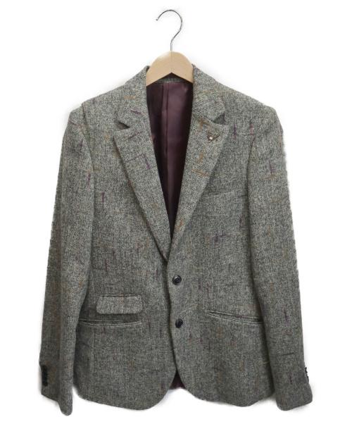pearly king(パーリーキング)pearly king (パーリーキング) テーラードジャケット グレー サイズ:Sの古着・服飾アイテム