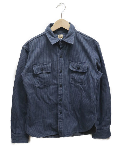 Deluxeware(デラックスウェア)deluxeware (デラックスウェア) ヒッコリーネルシャツ ブルー サイズ:Mの古着・服飾アイテム