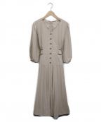 Rirandture(リランドチュール)の古着「配色プリーツレディワンピース」|アイボリー