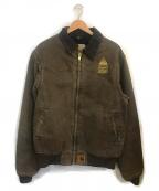 CarHartt(カーハート)の古着「企業ロゴデトロイトジャケット」|ブラウン