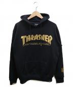 THRASHER(スラッシャー)の古着「コラボプルオーパーカー」|ブラック