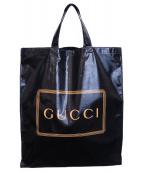 GUCCI(グッチ)の古着「ロゴプリントミディアムトートバッグ」|ブラック