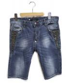 PHILIPP PLEIN(フィリッププレイン)の古着「ハーフパンツ」|インディゴ