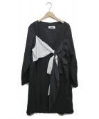MM6 Maison Margiela(エムエムシックス メゾンマルジェラ)の古着「リボンワンピース」|ブラック