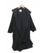 ()の古着「SHAWL HOOD BALLOON COAT」 ブラック