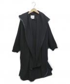 CLANE()の古着「SHAWL HOOD BALLOON COAT」|ブラック