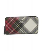 Vivienne Westwood(ヴィヴィアンウエストウッド)の古着「長財布」|グレー×レッド