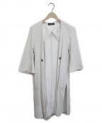 sisii(シシ)の古着「スウェードレザーコート」|ホワイト