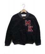 MAISON KITSUNE(メゾンキツネ)の古着「コーデュロイロゴスタジャン」|ブラック