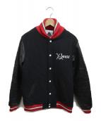 X-LARGE(エクストララージ)の古着「コラボレザー切替スタジャン」|ブラック