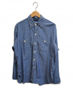 POST O'ALLS(ポストオーバーオールズ)の古着「ビッグシルエットシャツ」|インディゴ
