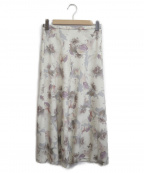 STRAWBERRY FIELDS(ストロベリーフィールズ)の古着「シャルロッテフレアスカート」|ベージュ