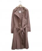 TONAL(トーナル)の古着「バックボタンロングガウンコート」 ピンク