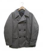 DESCENTE PAUSE()の古着「ダウンPコート」 グレー