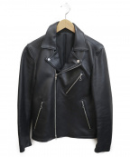 LIDnM(リドム)の古着「RAM LEATHER JACKET」|ブラック