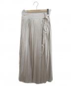 ELE STOLYOF(エレ ストリオフ)の古着「プリーツスカート」|ベージュ
