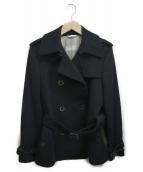 MaxMara(マックスマーラ)の古着「ベルテッドPコート」|ブラック