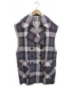 DRIES VAN NOTEN(ドリスヴァンノッテン)の古着「ロングダブルジレ」|パープル
