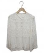 JILL STUART(ジルスチュアート)の古着「エリサレース刺繍ブラウス」|アイボリー