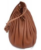 ()の古着「レザー巾着ショルダーバッグ」|ブラウン