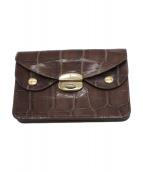 ()の古着「クロコ型押二つ折り財布」|ブラウン