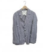 ordinary fits(オーディナリーフィッツ)の古着「リネンギンガムセットアップ」|ブルー×ホワイト