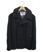 Schott×Stussy(ショット×ステューシー)の古着「U.S. 740N Pea Coat」|ブラック
