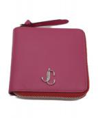 ()の古着「JCロゴ二つ折りコンパクトウォレット」|ピンク