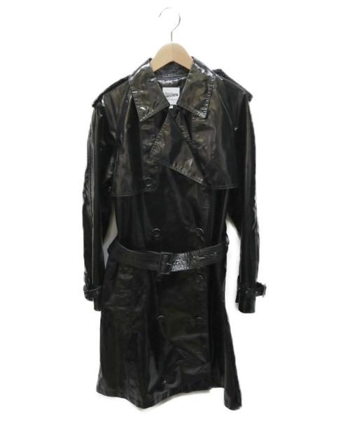 Jean Paul GAULTIER FOR SEPT PREMIERES(ジャンポールゴルチェ セットプルミエ)Jean Paul GAULTIER FOR SEPT PREMIERES (ジャンポールゴルチェ セットプルミエ) エナメルトレンチコート ブラック サイズ:42の古着・服飾アイテム