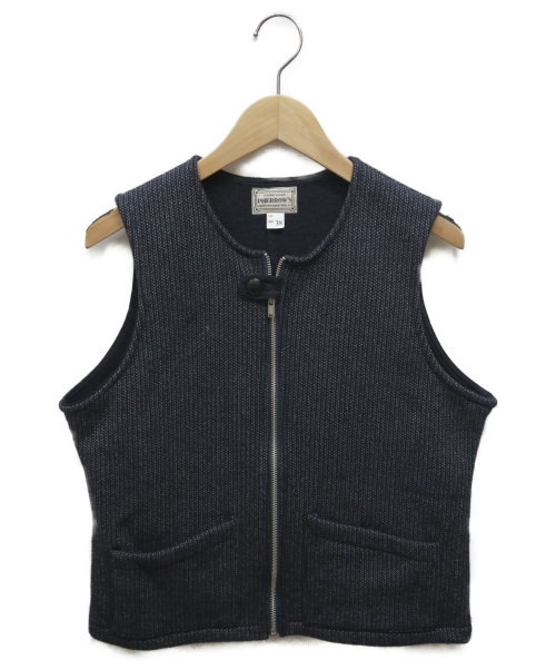 PHERROWS(フェローズ)PHERROWS (フェローズ) BEACH CLOTH ZIP UP VEST ネイビー サイズ:38の古着・服飾アイテム