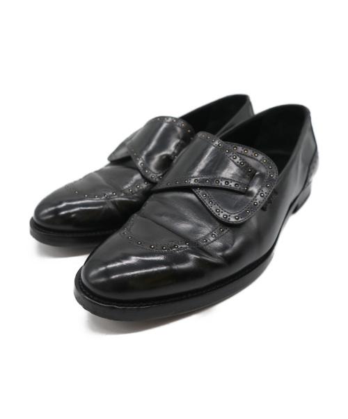 EDHEN MILANO(エデンミラノ)EDHEN MILANO (エデンミラノ) リボンスタッズローファー ブラック サイズ:71/2の古着・服飾アイテム