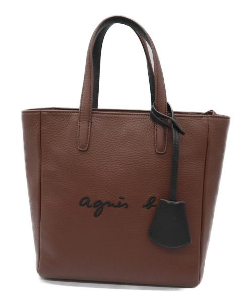 agnes b voyage(アニエスベーボヤージュ)agnes b voyage (アニエスベーボヤージュ) 2WAYトートバッグ ブラウン PAS26-01の古着・服飾アイテム