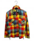 Joe McCOY(ジョーマッコイ)の古着「チェックネルシャツ」|レッド×イエロー