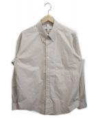 ()の古着「ボタンダウンボックスシャツ」|ベージュ