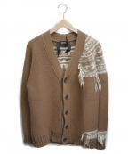 N°21(ヌメロヴェントゥーノ)の古着「Vネックカーディガン」|ベージュ