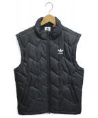 adidas Originals(アディダスオリジナル)の古着「スーパースターパフィーベスト」|ブラック