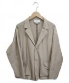 YOKE(ヨーク)の古着「ジャケットカーディガン」 ベージュ