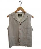 ORGUEIL(オルゲイユ)の古着「フレンチワークベスト」|アイボリー